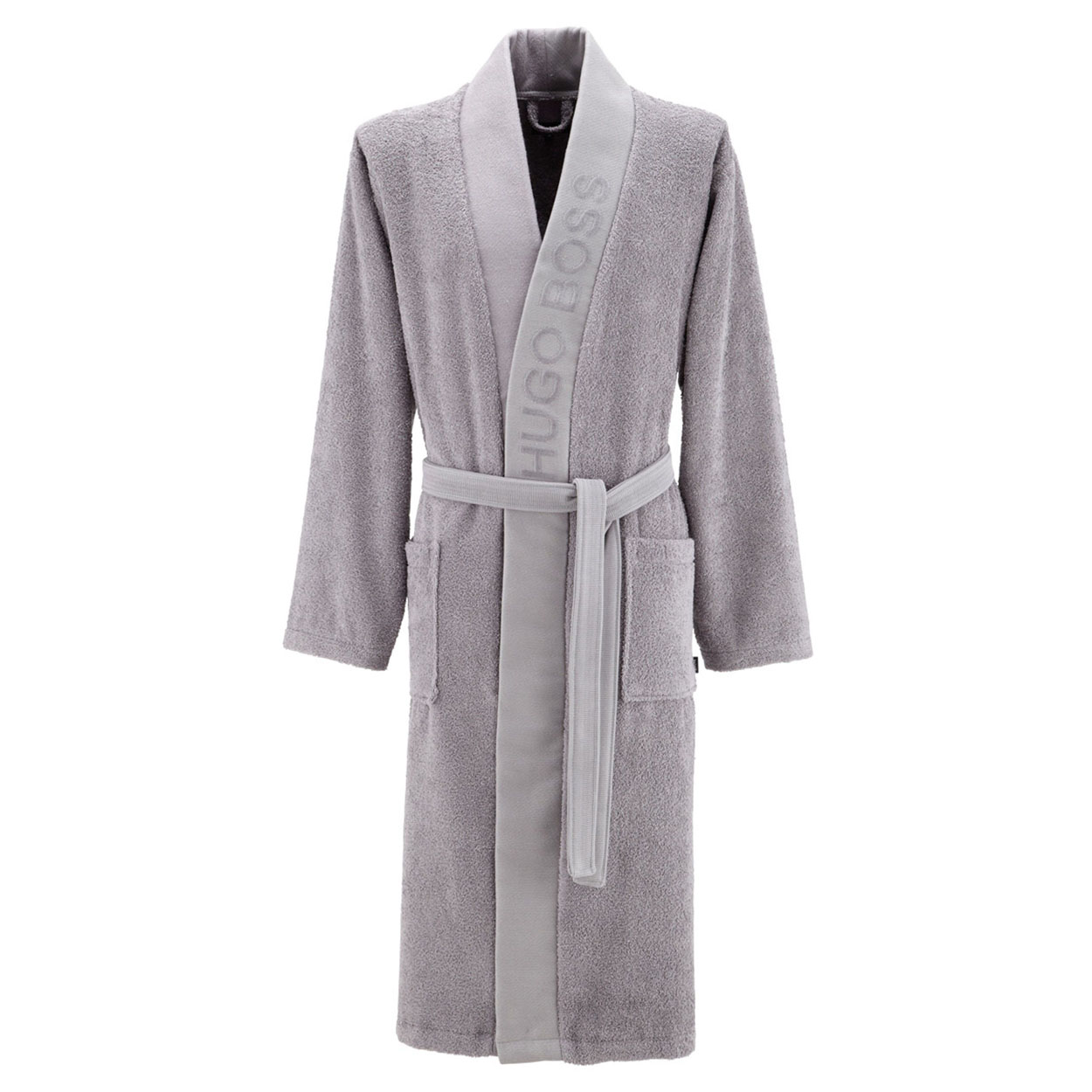Kimono  plain en coton d\'egypte gris
