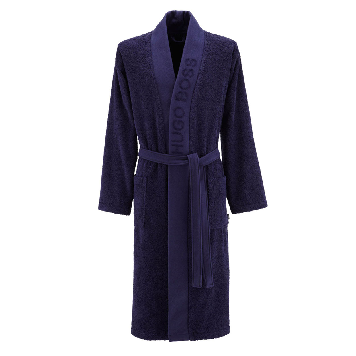 Kimono  plain en coton d\'egypte bleu marine