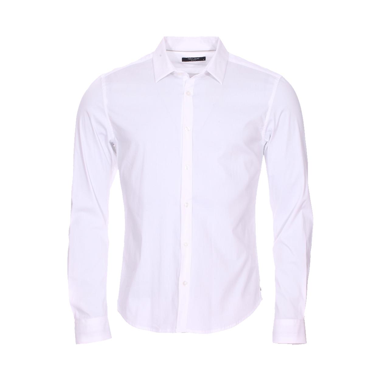Chemise coupe ajustée  clovery en coton mélangé blanc