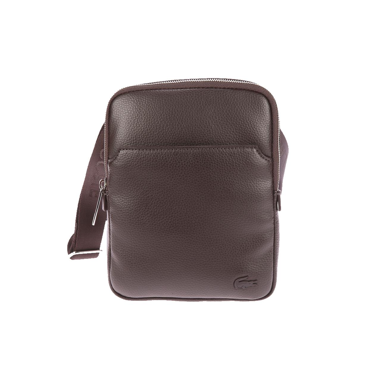 Sacoche  marron avec poche plaquée à l\'avant