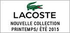 Nouvelle collection Lacoste été 2015