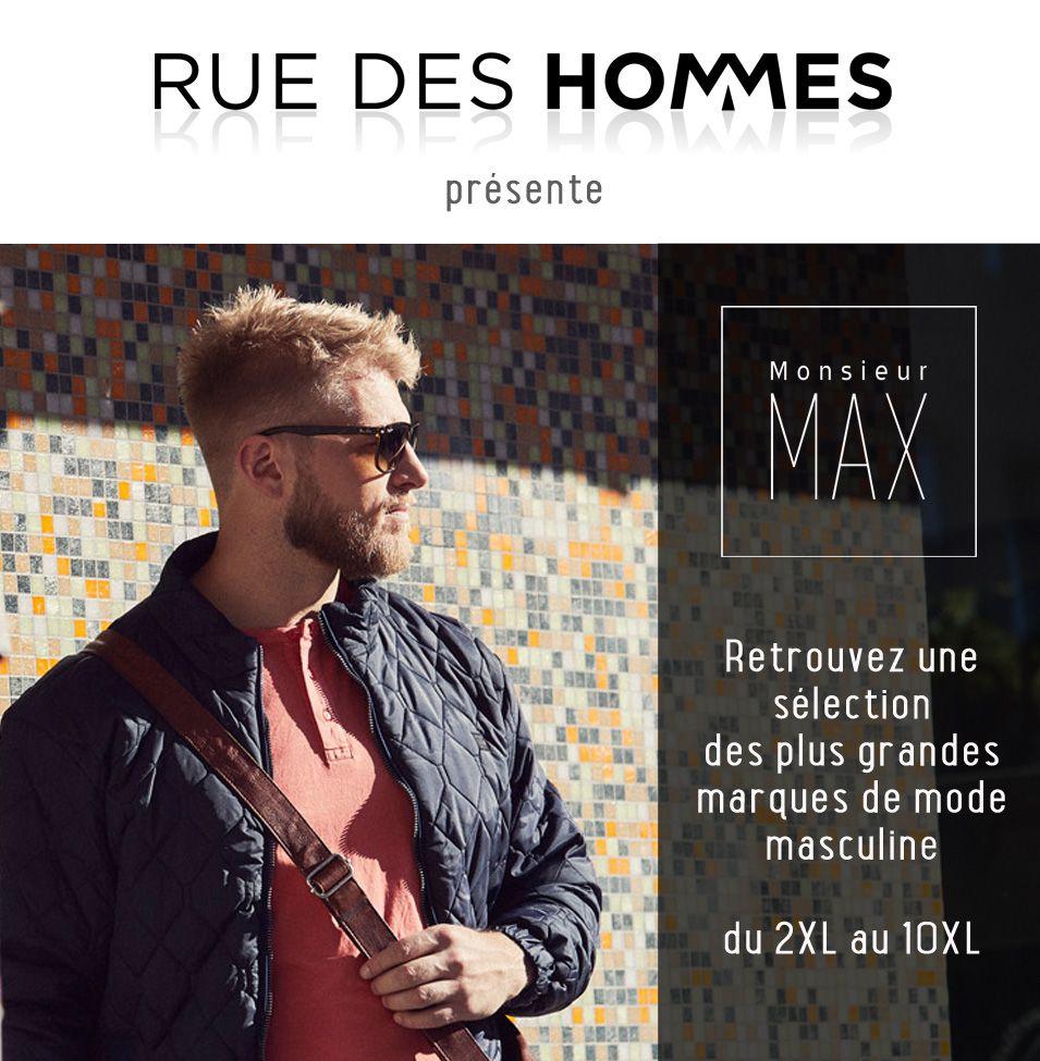 Monsieur Max spécialiste des vêtements grande taille pour homme