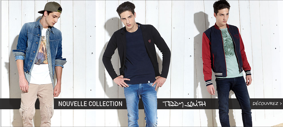 Nouvelle collection Teddy Smith homme