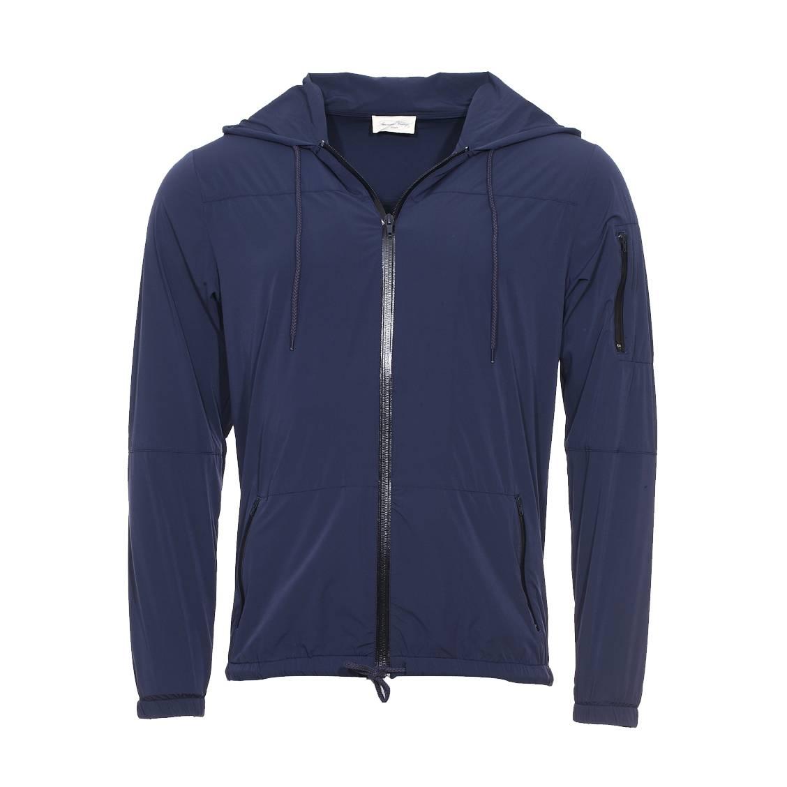Veste à capuche zippée datmon  bleu nuit