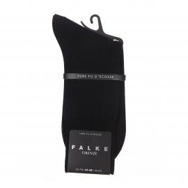Chaussettes Firenze Falke fil d'écosse en maille noire aux reflets soyeux