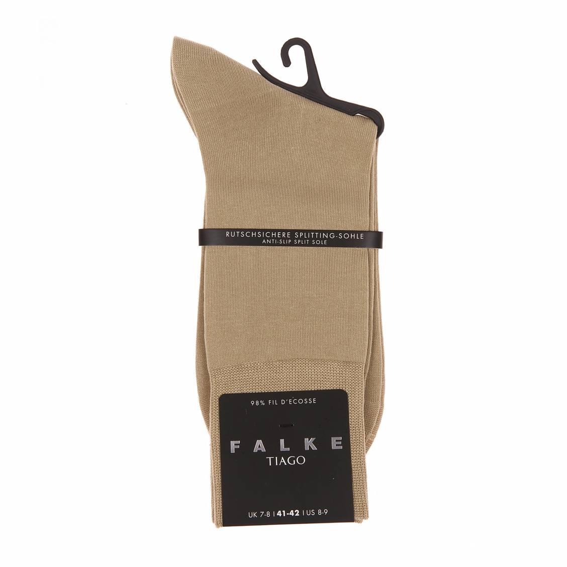 Chaussettes Tiago Falke en fil d'écosse sable