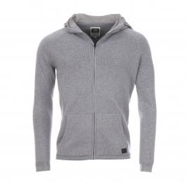 Pull G-Star Migno en coton gris à capuche imperméable dissimulée