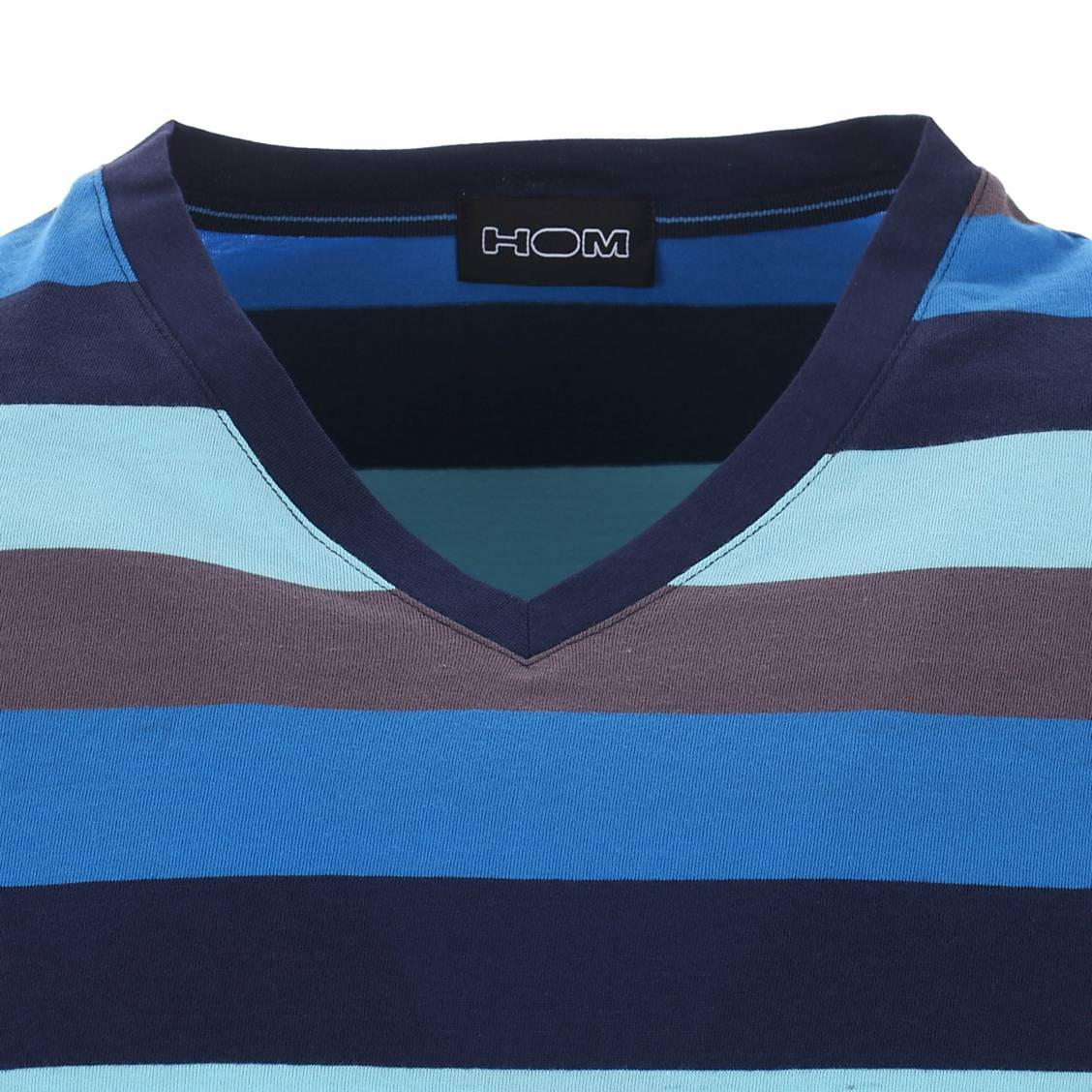 pyjashort hom tee shirt rayures turquoise bleues bleu marine et anthracite short bleu. Black Bedroom Furniture Sets. Home Design Ideas