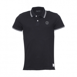 Polo Jack & Jones en coton stretch noir
