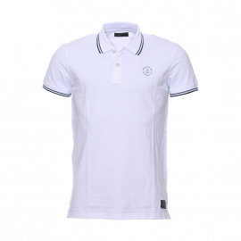 Polo Jack & Jones en coton stretch blanc