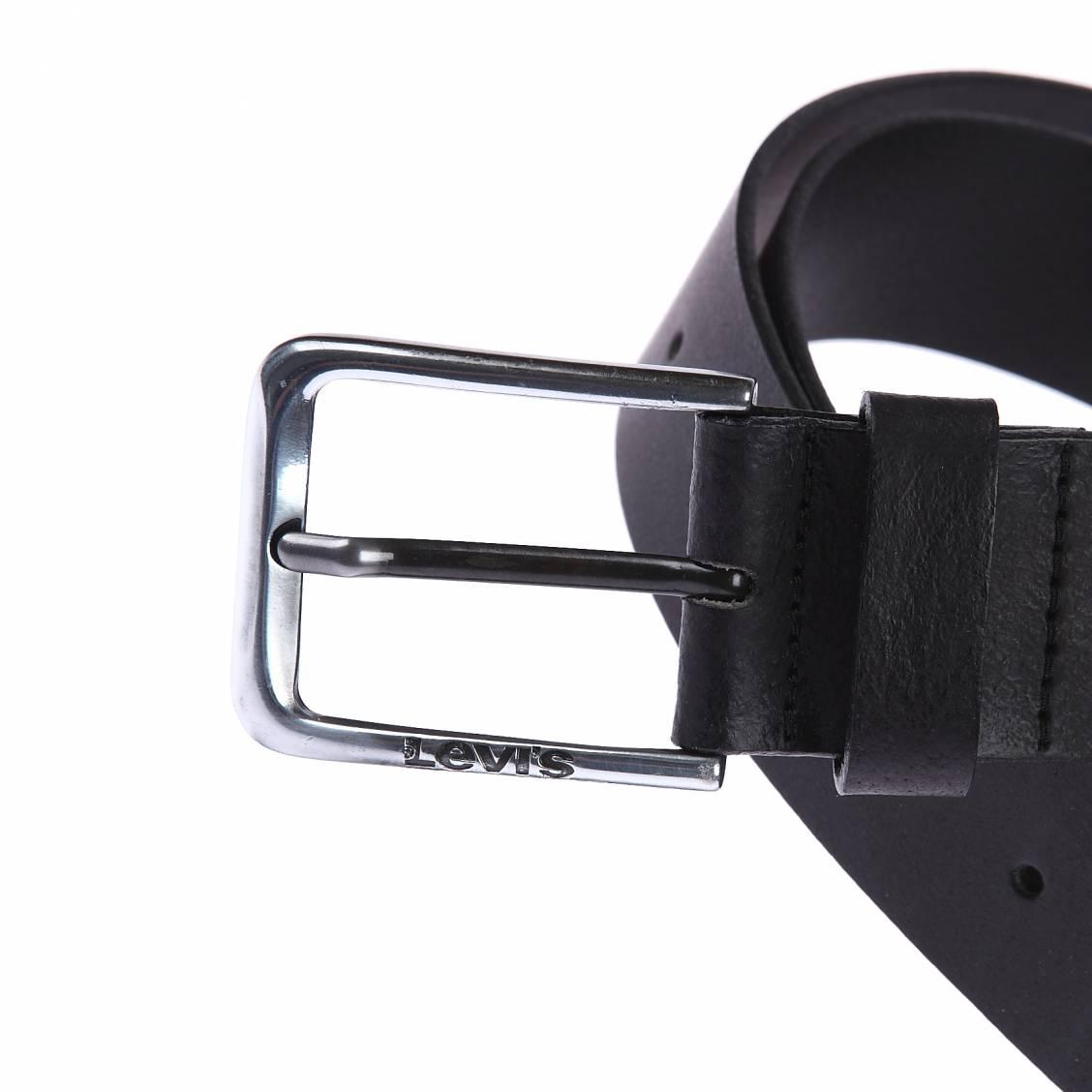 ceinture Levi's en cuir lisse noir