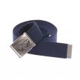 Ceinture Levi's Horse Military Belt en tissu bleu marine à boucle pleine