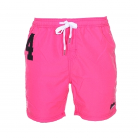 Short de bain Superdry Premium Water Polo rose fluo