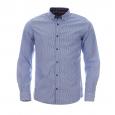 Chemise ajustée Tom Tailor à rayures blanches et bleu ciel, opposition à carreaux