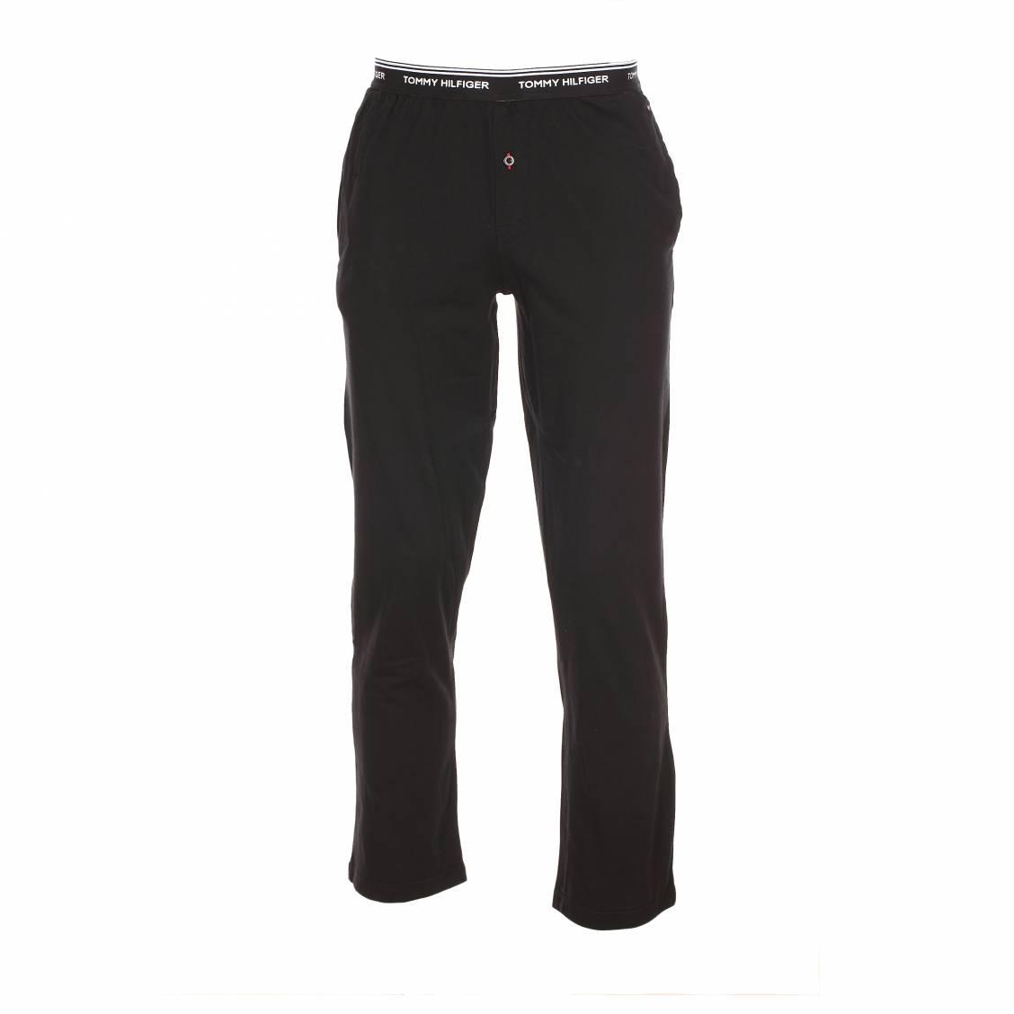 pantalon d 39 int rieur kirk tommy hilfliger en coton noir rue des hommes. Black Bedroom Furniture Sets. Home Design Ideas