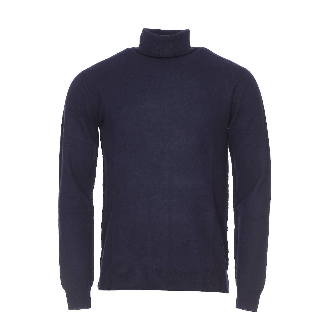 Pull apyroad  en laine bleu marine
