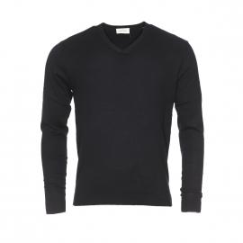 Pull léger Stamford American Vintage noir en soie et coton