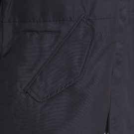 Manteau long Antony Morato noir, capuche à fourrure amovible