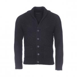 Cardigan Antony Morato en laine noire à grosses mailles