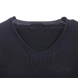 Pull col V échancré Antony Morato en laine melangée noire