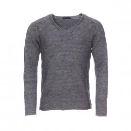 Pull col V échancré Antony Morato en laine melangée gris chiné