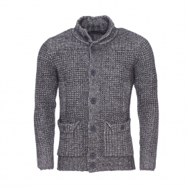 Gilet col montant Antony Morato en laine gris anthracite vintage
