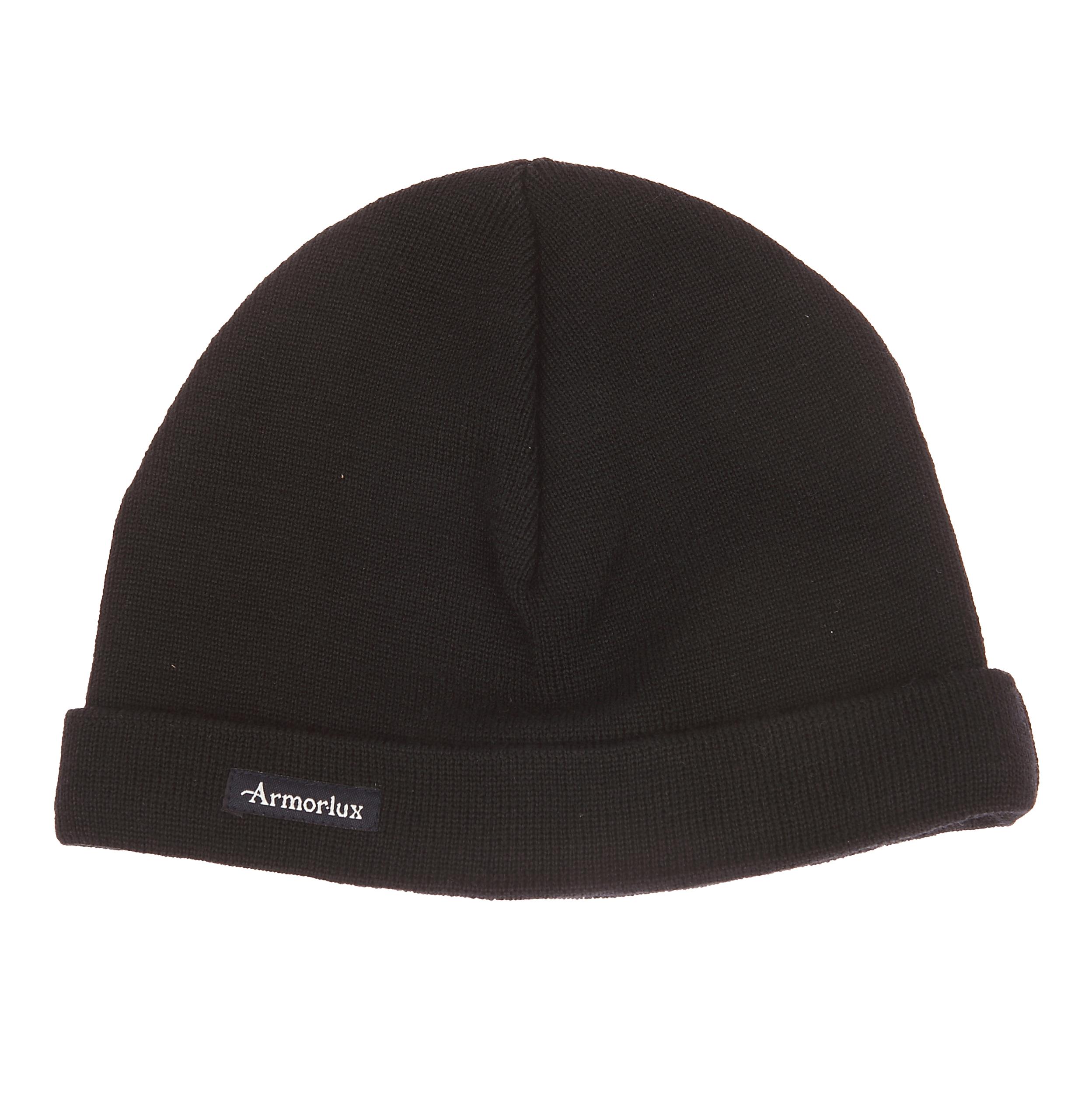 Bonnet lannion  en laine noire