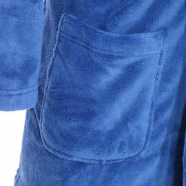 Veste d'intérieur Arthur en polaire bleue