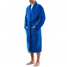 Robe de chambre Arthur en polaire bleu jean