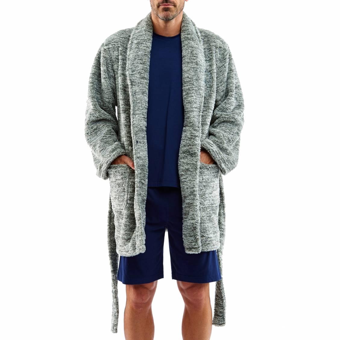veste d 39 int rieur arthur en polaire grise rue des hommes. Black Bedroom Furniture Sets. Home Design Ideas