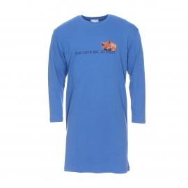 Maxi tee-shirt Fox Arthur en coton bleu floqué