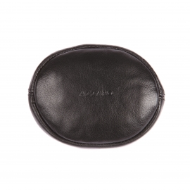 Porte-Monnaie zippé Azzaro en cuir noir