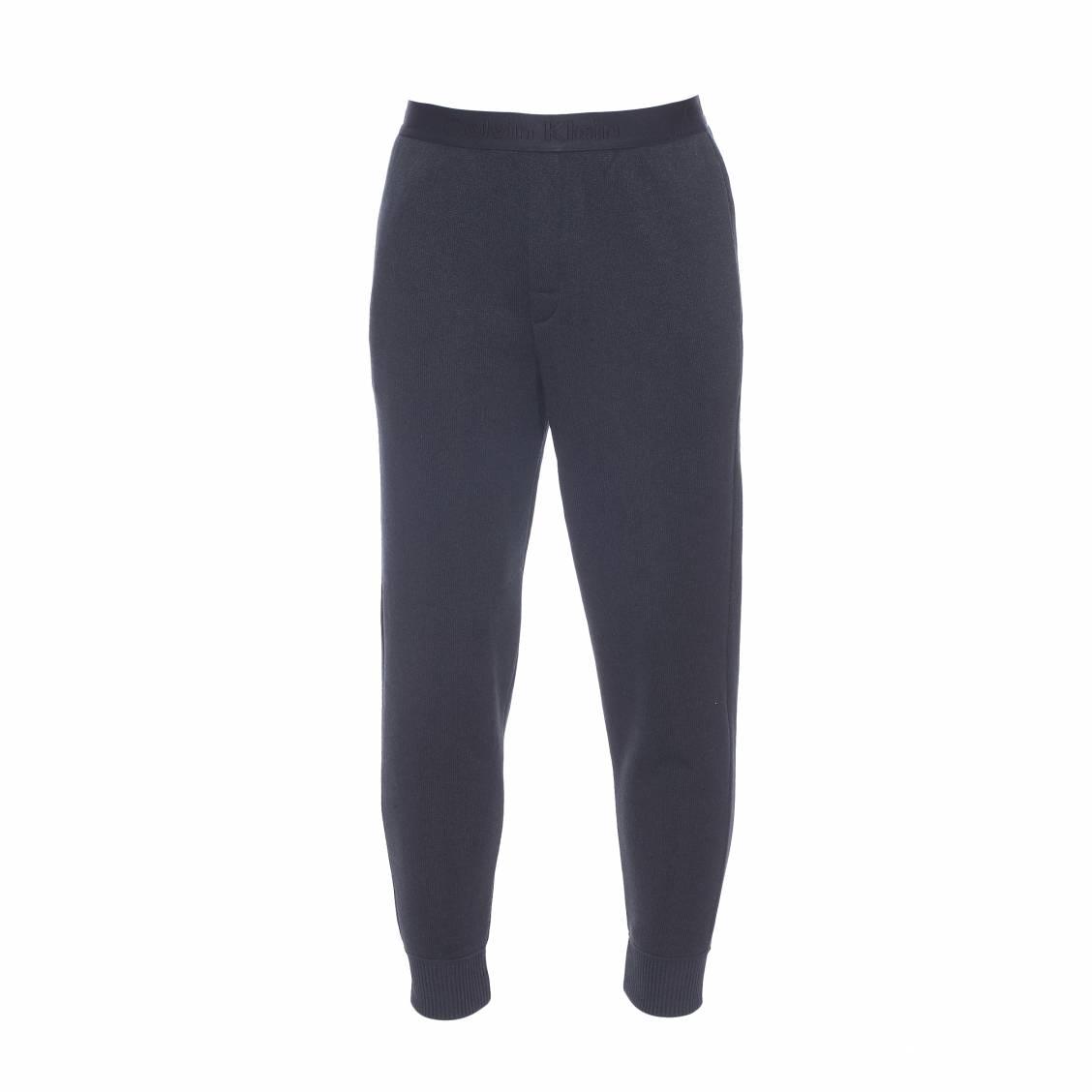 pantalon d 39 int rieur forme jogging calvin klein noir rue des hommes. Black Bedroom Furniture Sets. Home Design Ideas
