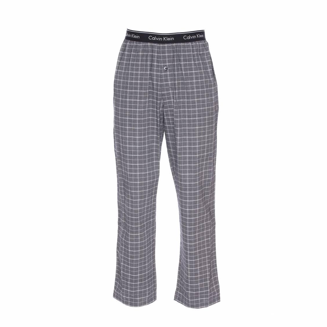 pantalon d 39 int rieur calvin klein carreaux noirs et blancs rue des hommes. Black Bedroom Furniture Sets. Home Design Ideas