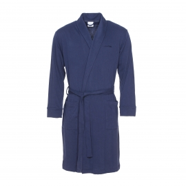 Peignoir d'intérieur Calvin Klein en coton bleu marine estampillé