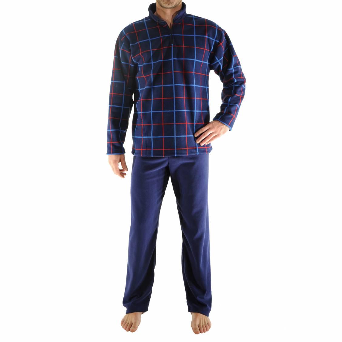 tenue d 39 interieur grant christian cane sweat col zipp bleu marine carreaux et pantalon bleu. Black Bedroom Furniture Sets. Home Design Ideas