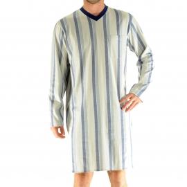 Liquette Galibier Christian Cane gris clair à rayures bleues