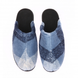 Chaussons chaud Givry Christian Cane bleus