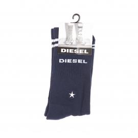 Chaussettes Diesel bleu marine estampillées en blanc