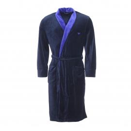Robe de chambre Emporio Armani en velours bleu marine