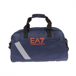 Sac de sport EA7 bleu marine estampillée en orange