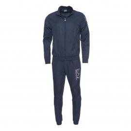 Ensemble de survêtement EA7 bleu marine : veste zippée et pantalon jogging élastiqué