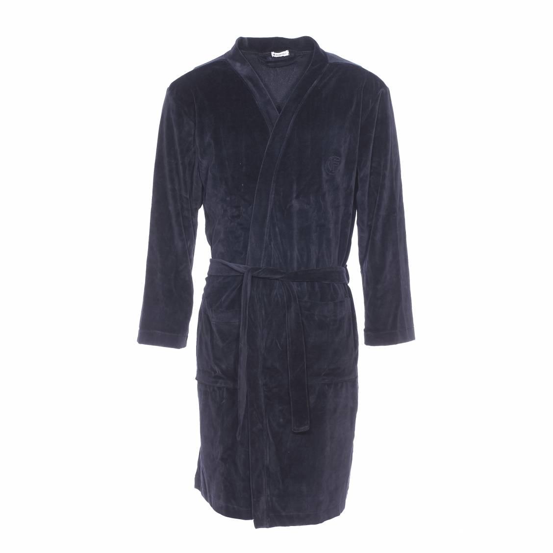 robe de chambre eminence en velours noir rue des hommes. Black Bedroom Furniture Sets. Home Design Ideas