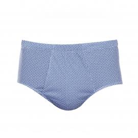 Slip Eminence taille haute ouvert bleu à motifs carrés blancs et bleu foncé
