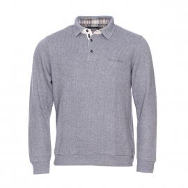 Polo Ethnic Blue en laine gris chiné