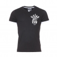 Tee-shirt col v Jord Special G-Star en coton noir estampillé sur la poitrine