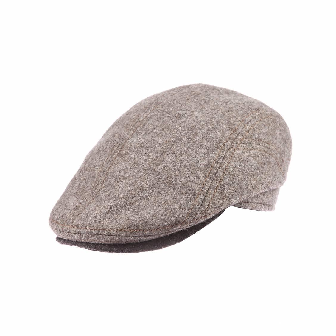 b ret casquette belvedere g ttmann en laine vierge grise rue des hommes. Black Bedroom Furniture Sets. Home Design Ideas