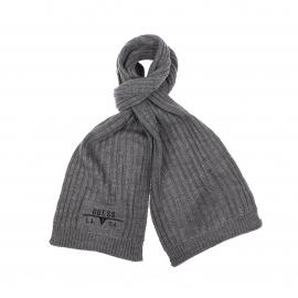 Echarpe Guess grise à mailles tricotées