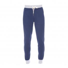 Pantalon de jogging Guess en coton bleu marine à ceinture grise