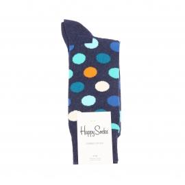 Chaussettes Happy Socks bleu chiné à motifs ronds